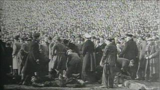 Scene of the disaster at Burnden Park