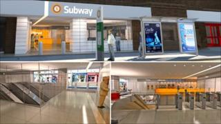 Impression of a new Hillhead Subway Station