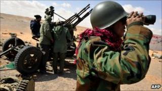 Anti-Gaddafi rebels in eastern Libya, 8 Mar 11