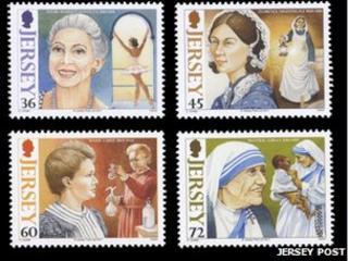 Jersey - Women of Achievement II stamps