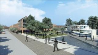 Architect's drawing of Castleward project