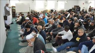 Prayers at a Long Island mosque