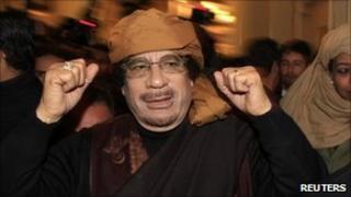 Muammar Gaddafi in Tripoli, 8 March