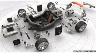 McLaren car parts