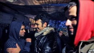 Migrant workers celebrate in Athens (9 March 2011)