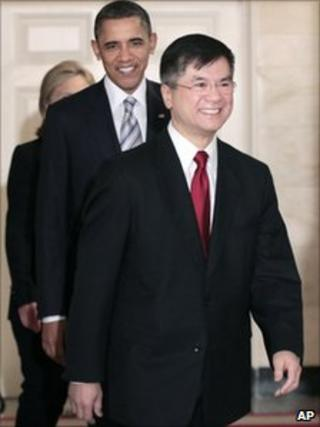 Barack Obama and Gary Locke