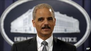 US Attorney General Eric Holder at a news conference on 9 March 2010