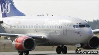 A SAS Scandinavian Airlines plane