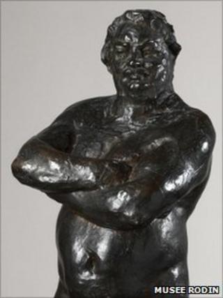 Nude bronze of Balzac by Rodin (Photo: Rodin museum in Paris)