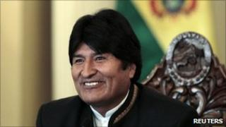 President Evo Morales on 10 March 2011