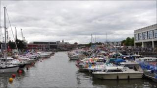 Bristol Harbourside during the harbour festival
