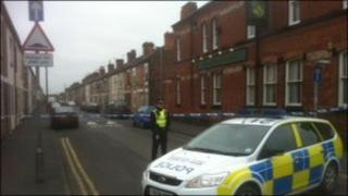 Road closed following explosion