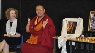 Lama Abhay Rinpoche in Wilmslow High School