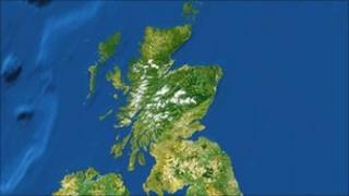 Satellite image Scotland
