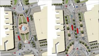 Alternative plans for Frideswide Square