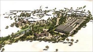 An artist's impression of the Bath House site