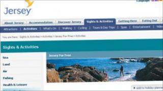 Jersey Tourism website