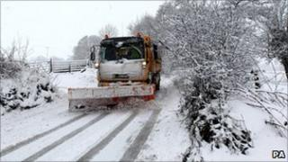 A snow plough in Scotland