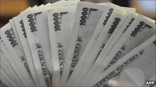 Japan bank notes