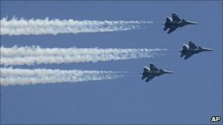 Indian air force's Sukhoi jets
