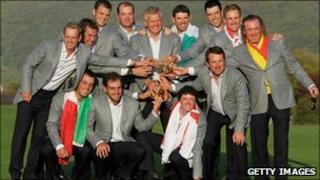 The winning Ryder Cup team last year