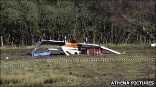The crashed aircraft