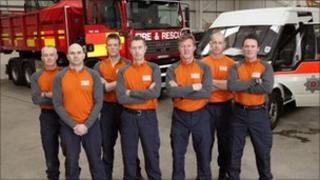 Lancashire fire crew