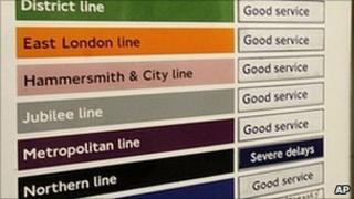"""A Tube """"service update"""" board"""