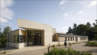 Creswell Crags visitor centre main entrance. Photo: Creswell Heritage Trust