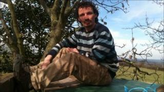 Eco-protester Ben Healey