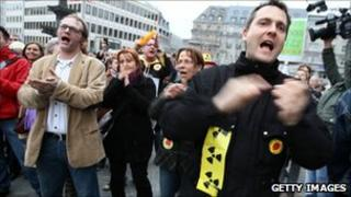 Protesters in Germany