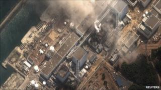 Aerial view of Fukushima Daiichi's reactor 3