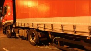 Clamp on lorry