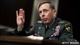 Gen David Petraeus during his confirmation hearing