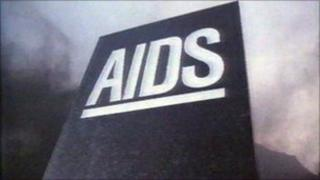Still from government's 1987 Aids campaign