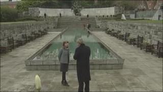 Garden of Remembrance in Dublin