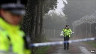 Police cordon at Willow Park