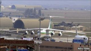 Iranian plane at Diyarbakir airport (16 March 2011)