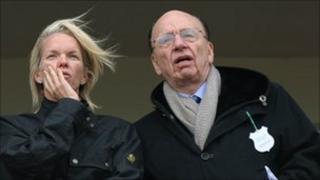 Rupert and Elisabeth Murdoch