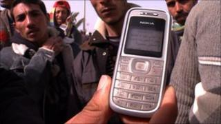 A mobile phone handset