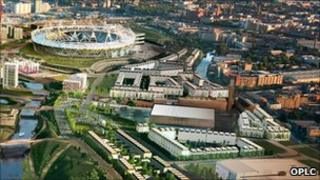 Artists' impression of the Olympic Park