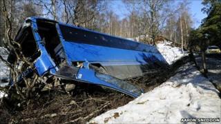 Bus crash. Pic Aaron Sneddon