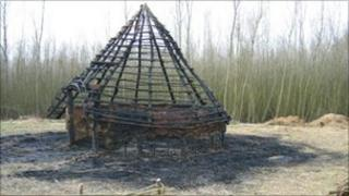 The roundhouse after the fire.
