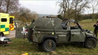 Damaged vehicle - Great Western Ambulance Service
