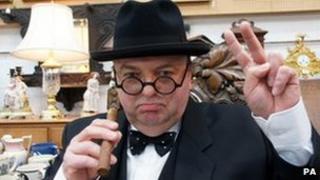 Winston Churchill impersonator Derek Herbert