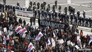 Anti-austerity protests in Athens