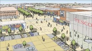 Plans for Kirkby town centre