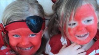 Children on Red Nose day for Comic Relief