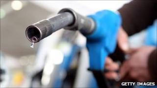 close up of petrol pump nozzle