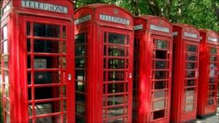 Red phone kiosks